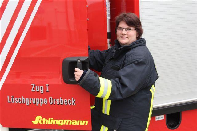Ramona Jütten aus Orsbeck tritt in die Einsatzabteilung der Löschgruppe Orsbeck ein